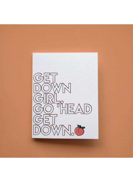 Mixtape Paper Co. Get Down Girl Card