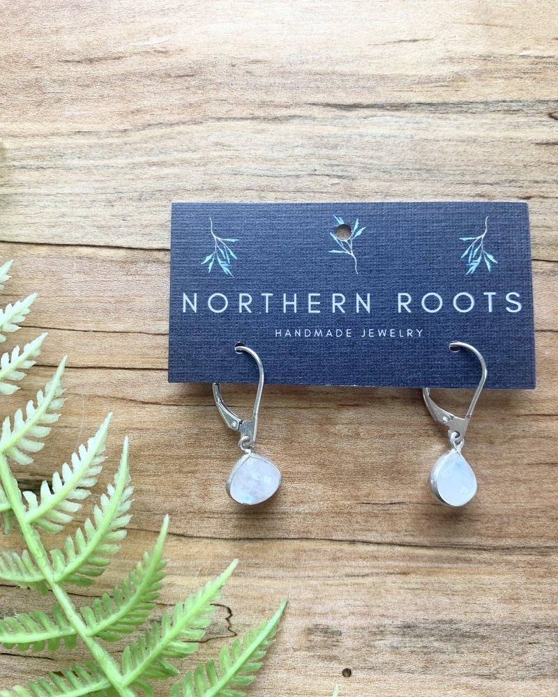 Northern Roots Rainbow Moonstone Earrings 2884
