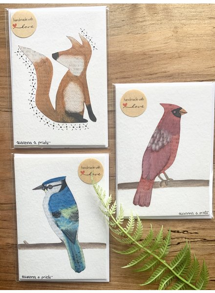 My Tiny Little Wings Cards Animal Design Handmade Cards