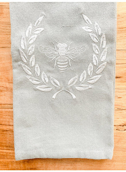Bee with Wreath Dishtowel