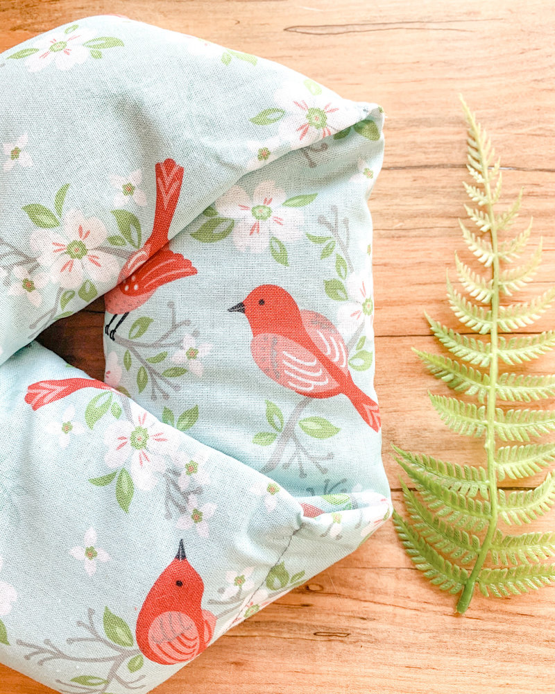 Aromatherapy Neck Wrap Summer Bird Print Rosemary and Lavender