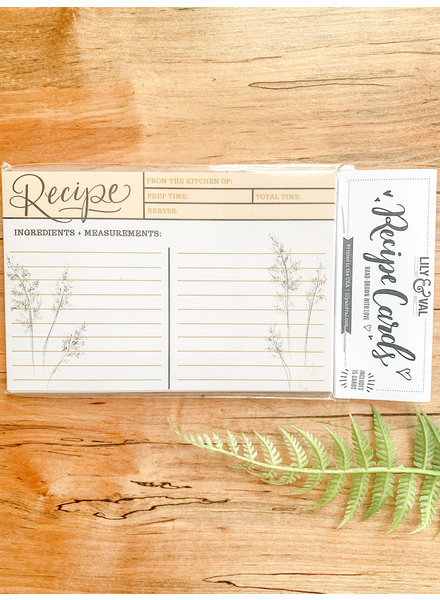 Lily and Val Botanical Recipe Card Pack