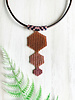 Brick Red, Peach and Pink Triple Pendant Necklace
