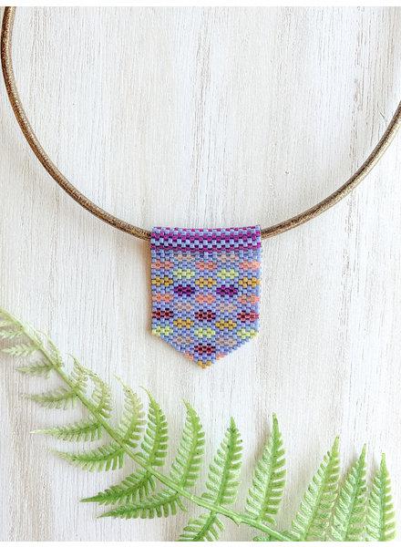 Jessica Payne Periwinkle Multicolor Medium Pendant Necklace