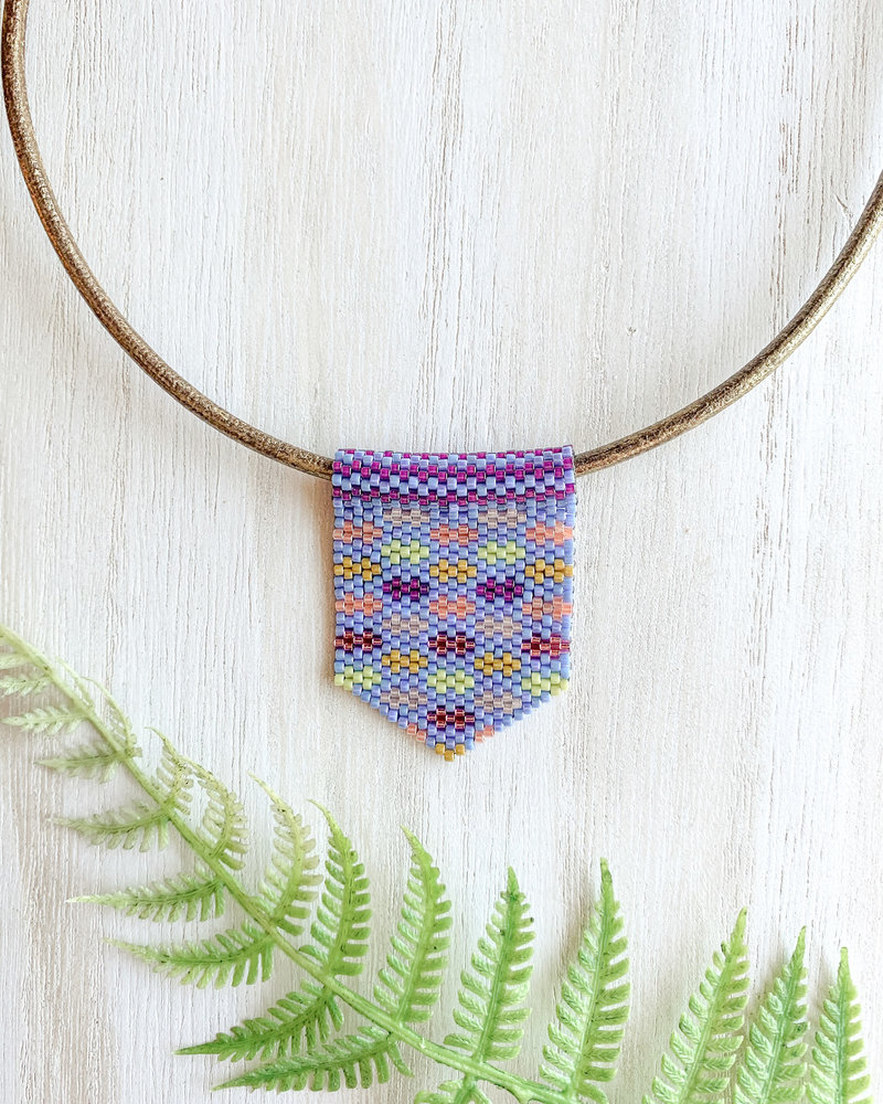 Jessica Payne Periwinkle Multicolor Medium Pendant Necklace