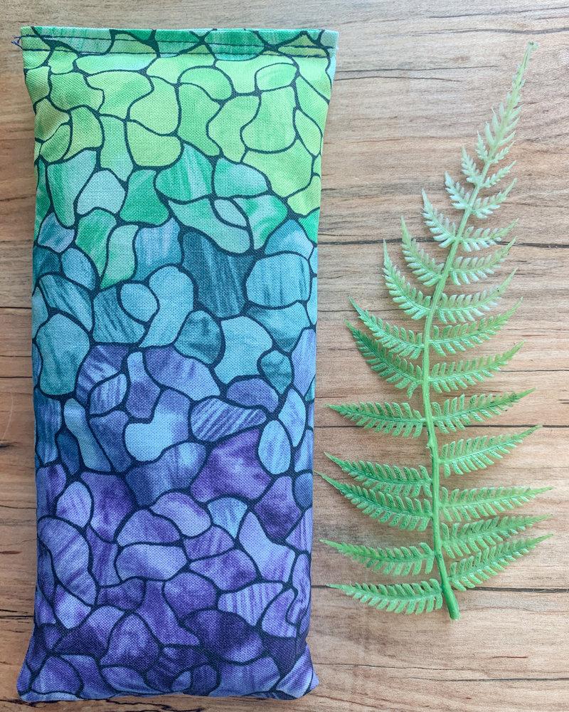 Aromatherapy Eye Pillow Watercolor print Eucalyptus and Peppermint