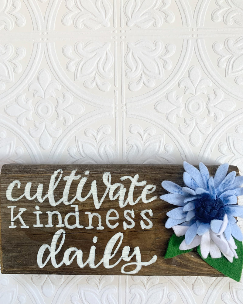 Cultivate Kindness Barnwood Sign