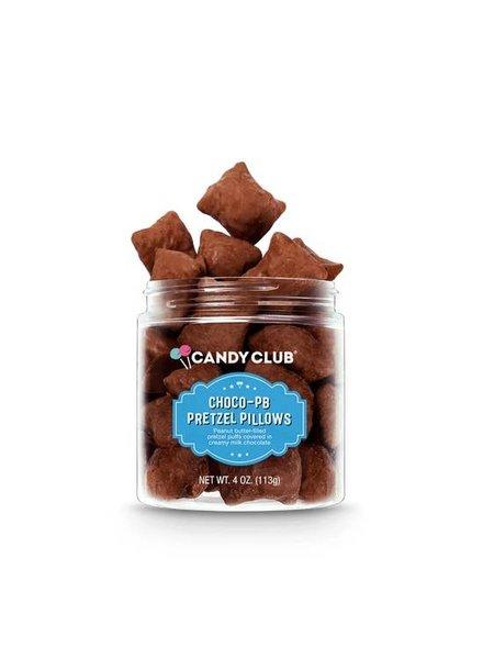 Candy Club Chocolate Peanut Butter Pretzel Pillows