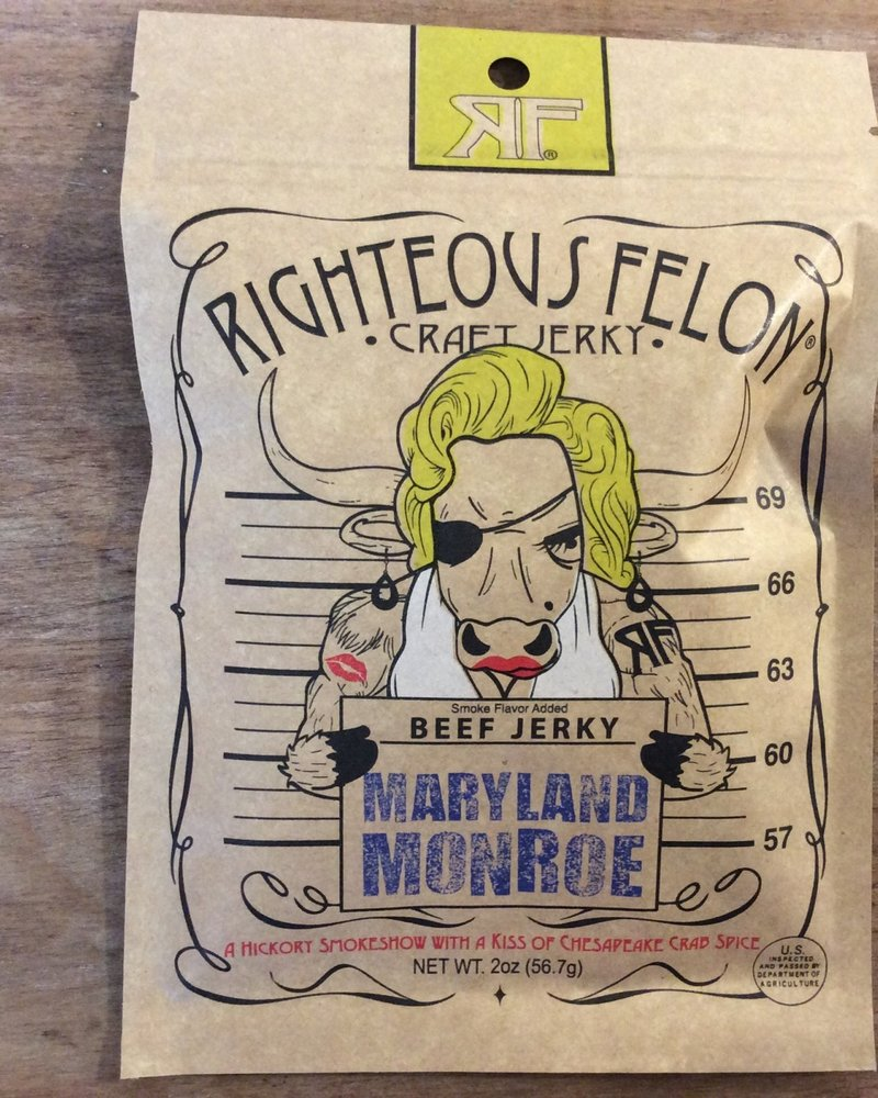 Righteous felon Righteous Felon Maryland Monroe Beef Jerkey