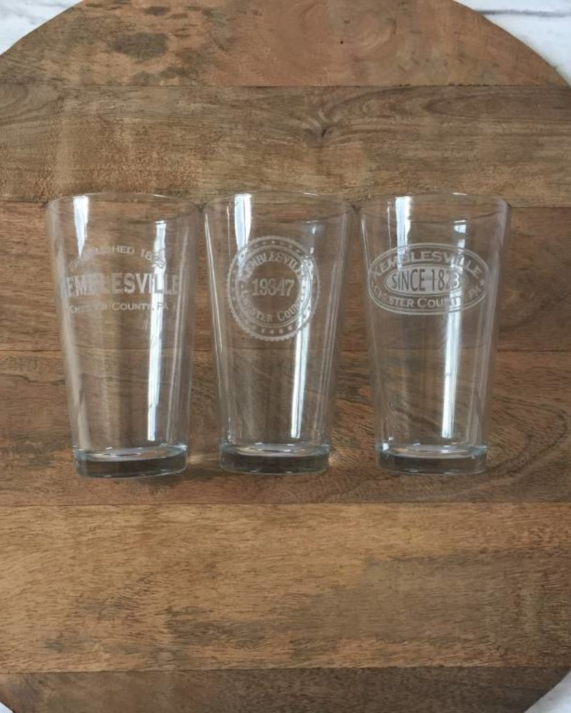 Kemblesville Pint Glasses