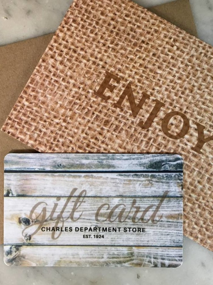 Charles Department Store Gift Card