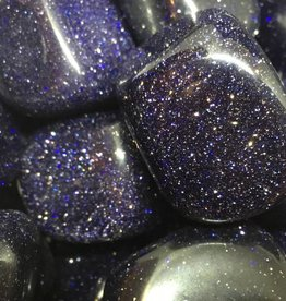 Nature's Expression Blue Goldstone Tumbled Stone
