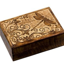 Kheops International Dragonfly - Carved Wood Box (5X7)