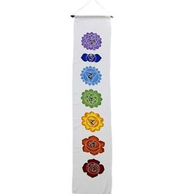 Kheops International Long White Chakra hand painted banner