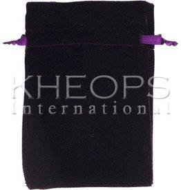 Kheops International Velvet Bag Lined - purple 6x9