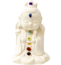 Kheops International Gypsum Chakra Kwan Yin 3.5''