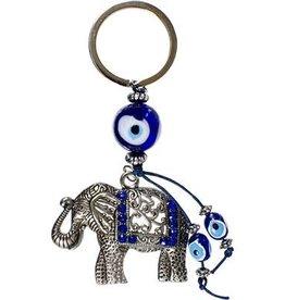 Kheops International Large Elephant Evil Eye Keychain Talisman