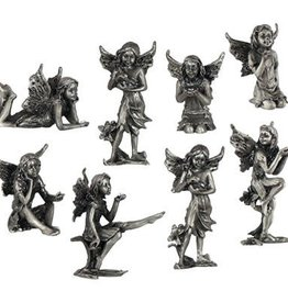 Kheops International Mini pewter fairy statue - mixed poses with sparkles
