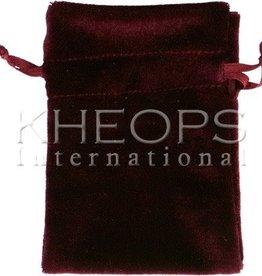 Kheops International Velvet Bag Lined - burgundy 6x9
