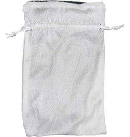 Kheops International Velvet Bag Lined - white & silver 5x8
