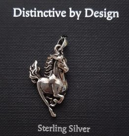 Distinctive by Design Running Horse Silver Pendant