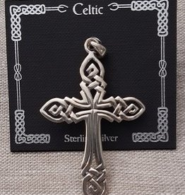 Distinctive by Design Big Celtic Cross Silver Pendant