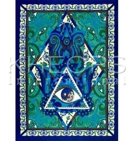 "Kheops International Fatima Hand Cotton Tapestry 52""x76"""