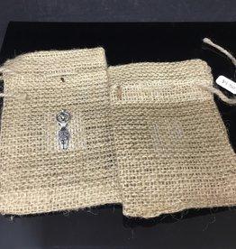 Kheops International Jute 3x5 bag - goddess charm