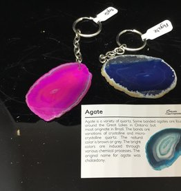 Nature's Expression Dyed Agate Slab Keychain