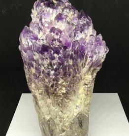 Family Rocks Large Amethyst Spirit Elestial Cutbase Specimen