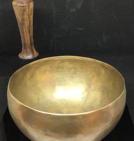 Desiree Designs Large/Medium authentic hand hammered golden metal Singing Bowl 18913