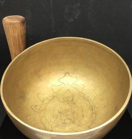 Desiree Designs Extra Large etched Tibetan Singing Bowl - medicine buddha