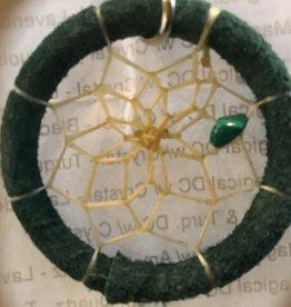 """Monague Native Crafts Ltd. 1.5"""" Green Dreamcatcher Keychain"""
