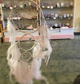 "Monague Native Crafts Ltd. 4"" White Generation Dreamcatcher, 3 circles"