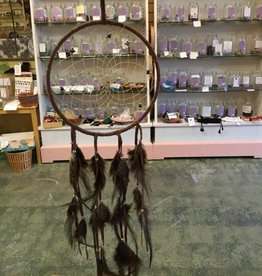 "Monague Native Crafts Ltd. 6"" Brown Dreamcatcher Semi Precious Stones"