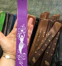 Kheops International Wood Painted Incense Holder - Purple Goddess