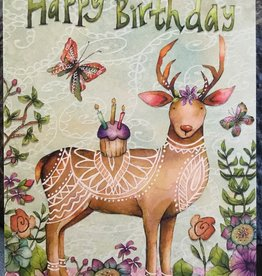 Leanin Tree/Don Fowler Distributors Deer with Cupcake Birthday