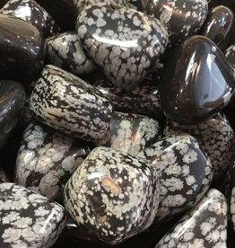 Nature's Expression Snowflake Obsidian Large Tumbled Stone