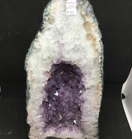 Nature's Expression White & Purple Amethyst Geode Church