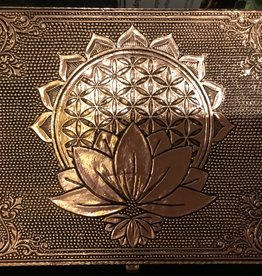 Nature's Expression Metal Flower of Life Box