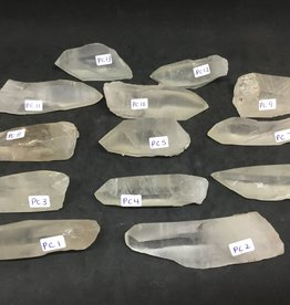 Family Rocks Clear Quartz Crystal Point - keyhole channeler