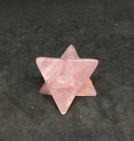 Family Rocks Flat Merkaba Rose Quartz Stars