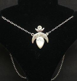 Crystal Earth Studio Crescent Moonstone Necklace