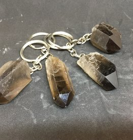 Nature's Expression Natural Smoky Quartz Crystal Point Keychain