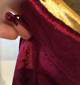 Kheops International Velvet Bag Lined - burgundy & gold 5x8