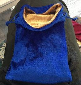 Kheops International Velvet Bag Lined - blue & gold 5x8