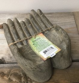 Kheops International Volcanic stone offering prayer hands