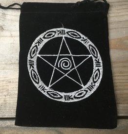 Kheops International Velvet embroidered pentacle bag 5x7