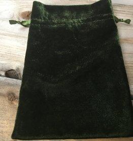Kheops International Green Moss Unlined Velvet bag 6X9