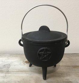 Kheops International Pentagram Cast Iron Cauldron (4.5 inch)